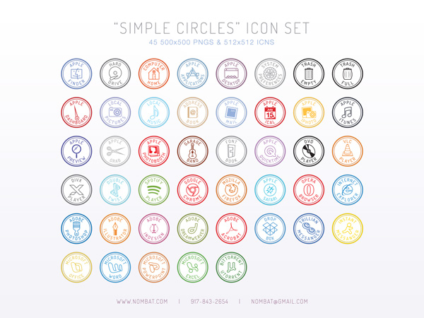 Simple Circles Icon Set