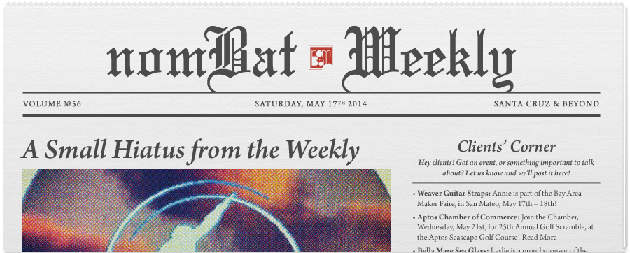 May 17, 2014: Saturday Edition