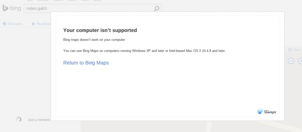 Bing Maps - chromebook
