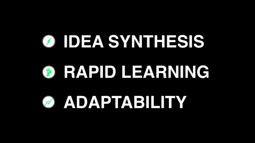 idea synthesis rapid learning adaptability