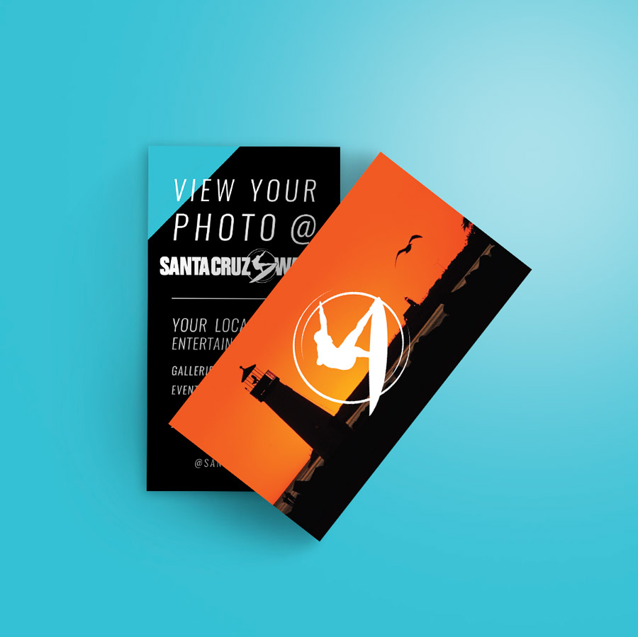 Santa Cruz Waves - business card