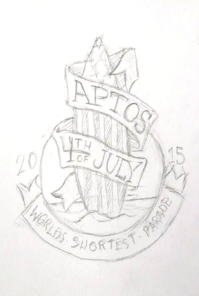 Aptos 4th July, 2015 - sketch