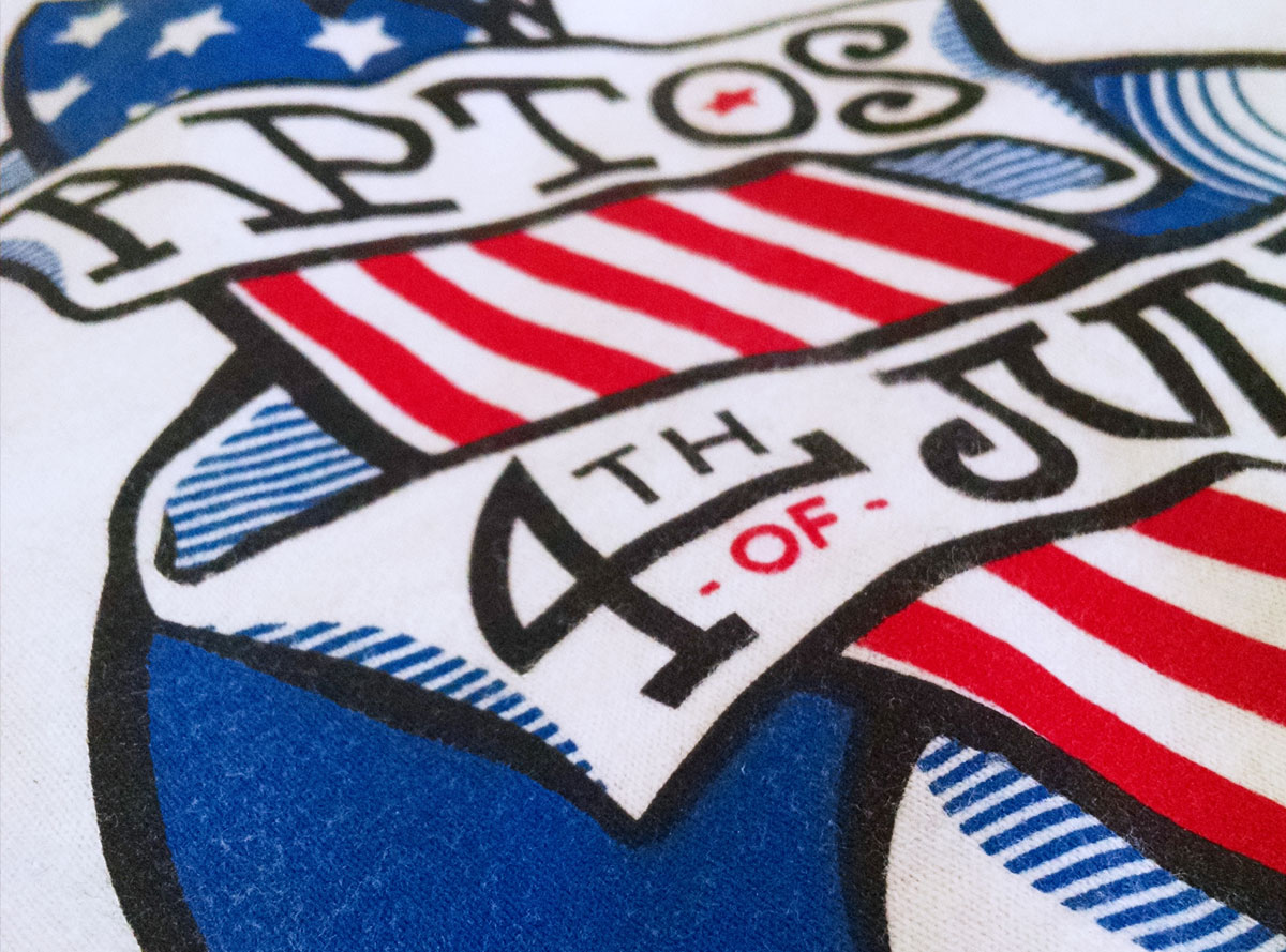 Aptos 4th July, 2015 - Shirt detail