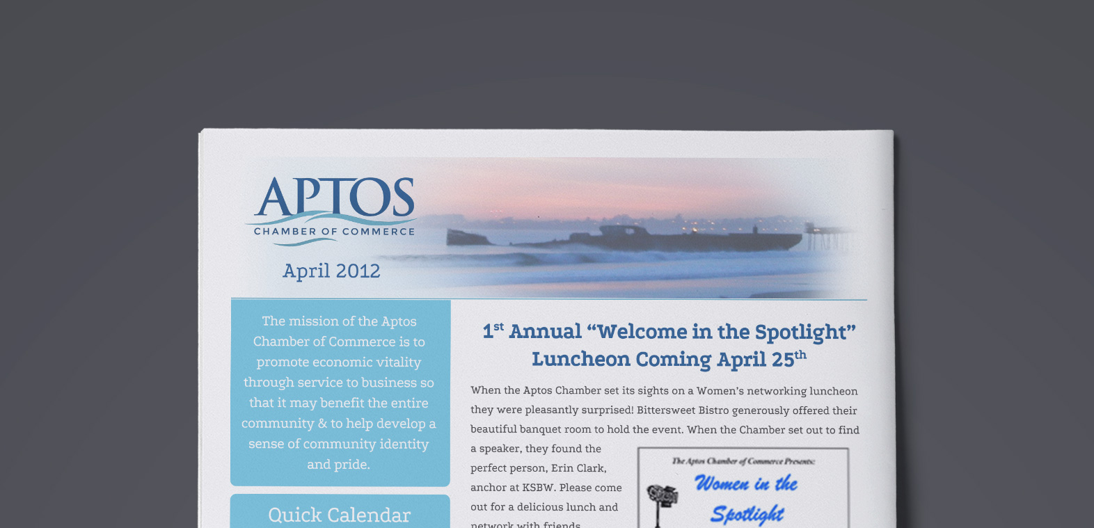 Aptos Chamber of Commerce - newsletter