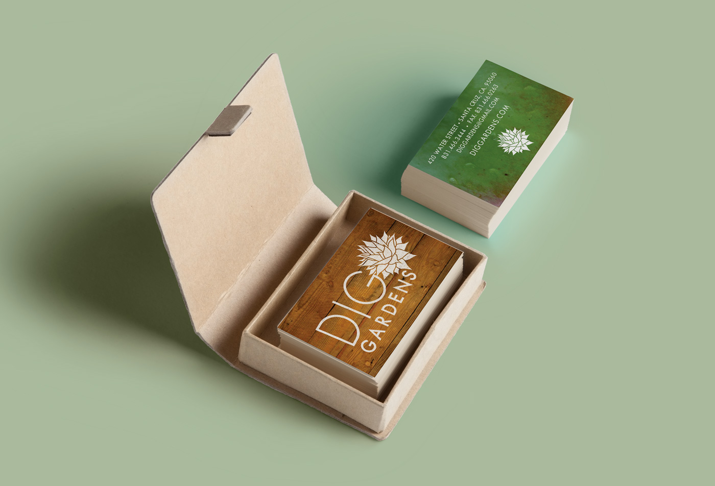 Dig Gardens - business cards