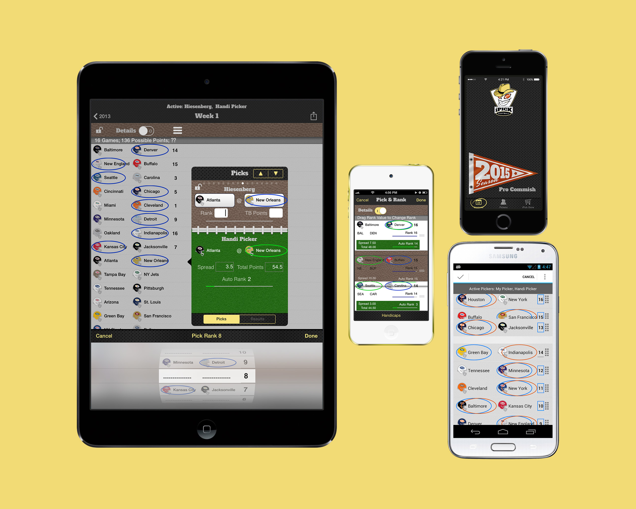 iPick Football - app graphics