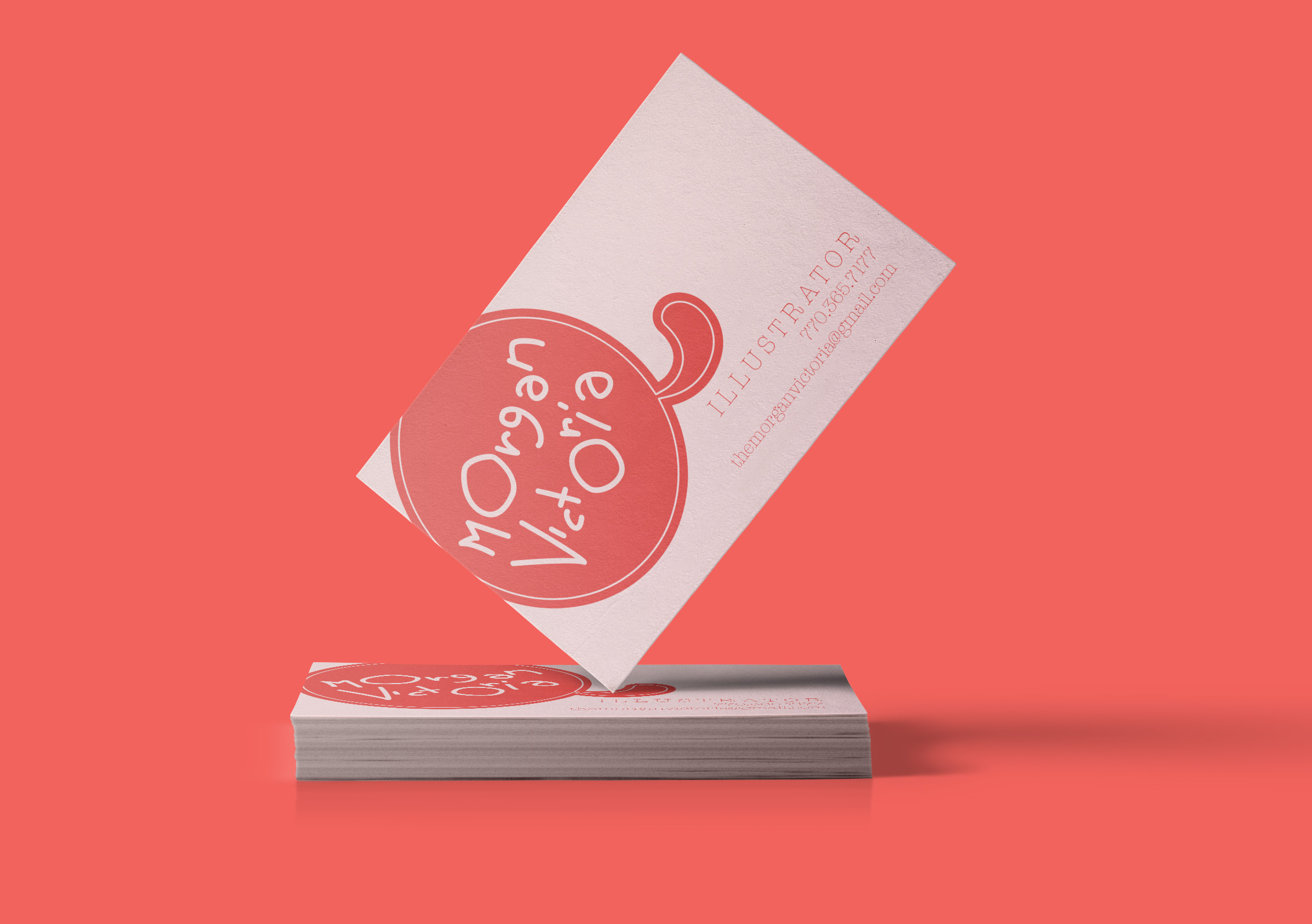 morgan victoria - business cards