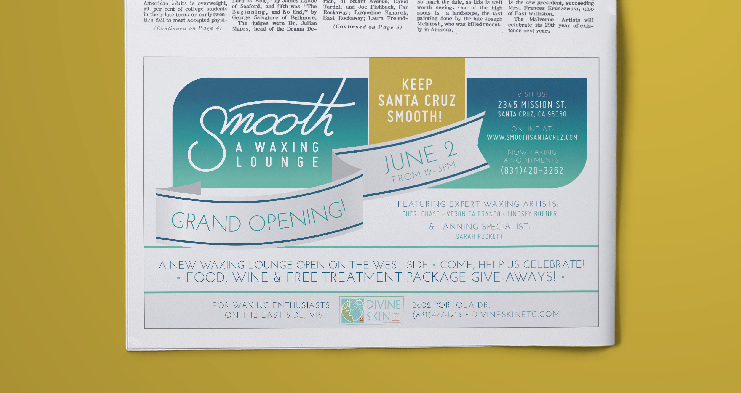 Smooth - grand opening ad