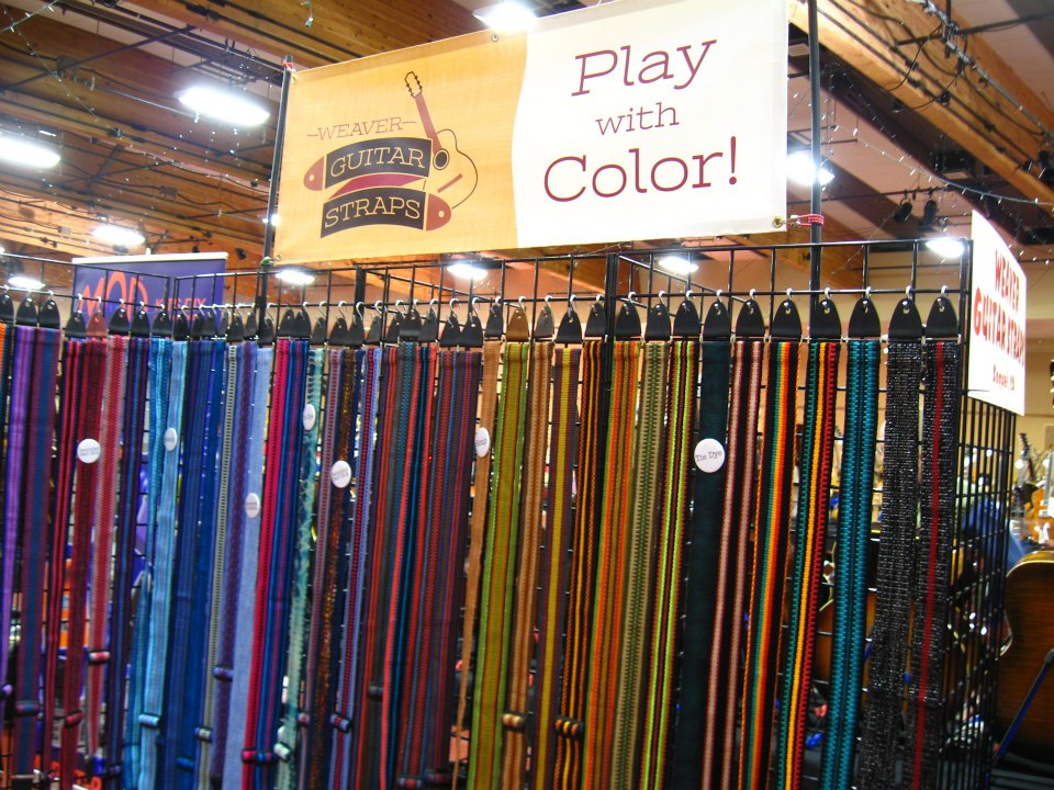 Weaver Guitar Straps - booth banner