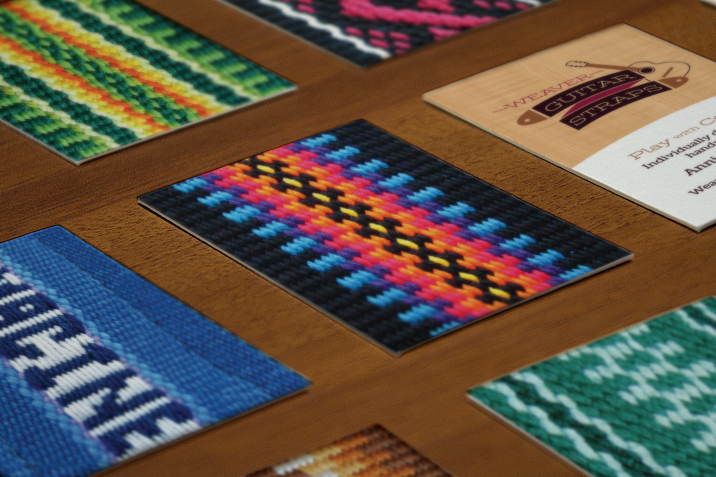 Weaver Guitar Straps - business cards