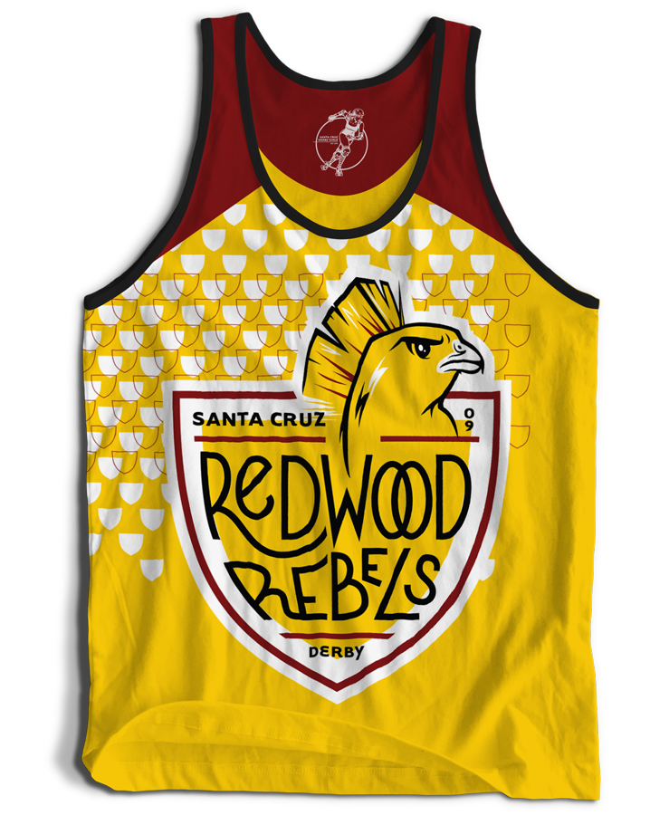 Santa Cruz Derby Girls - Jerseys - Redwood Rebels