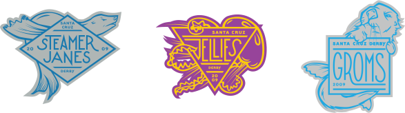 Santa Cruz Derby Girls - Team Logos - 2-color