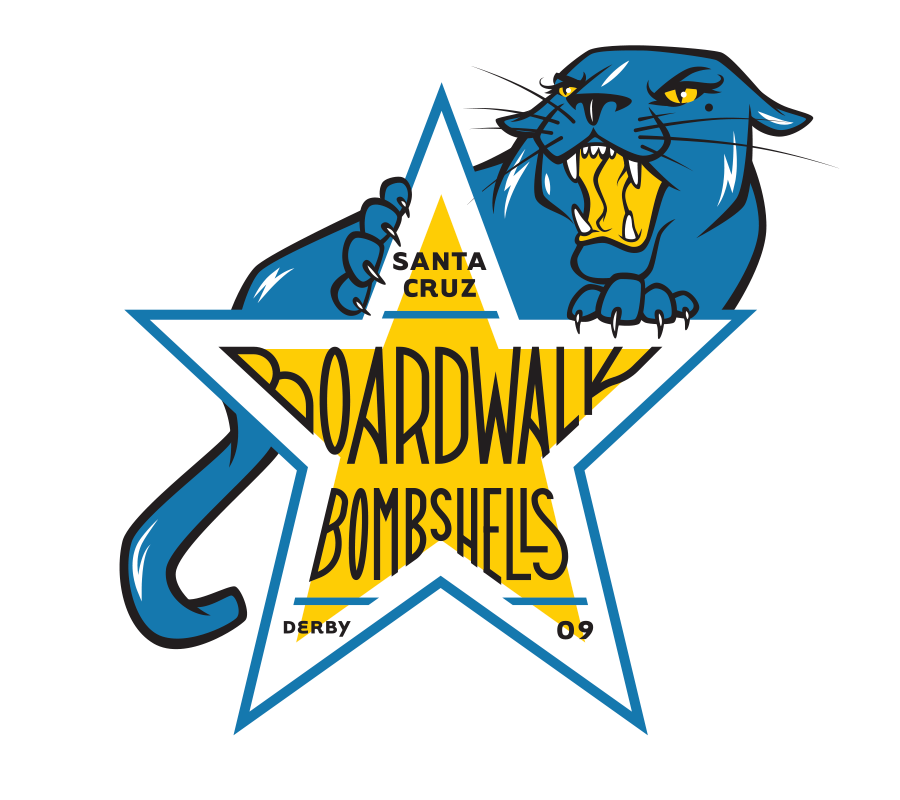 Santa Cruz Derby Girls - Team logo - Boardwalk Bomshells