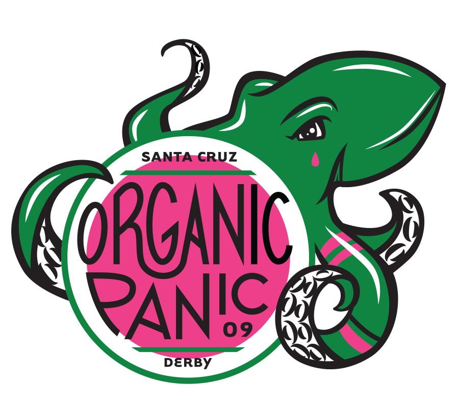 Santa Cruz Derby Girls - Team logo - Organic Panic
