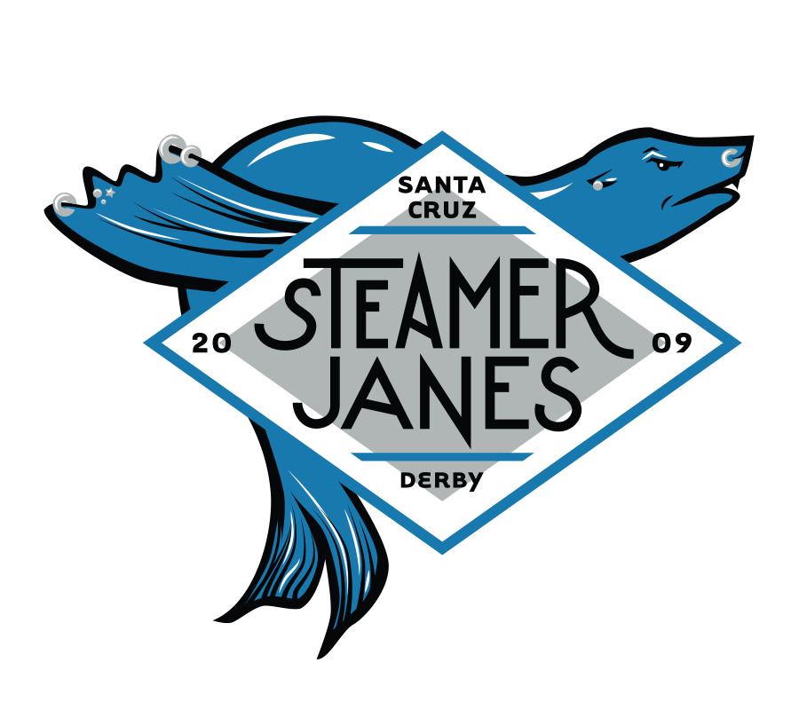 Santa Cruz Derby Girls - Team logo - Steamer Janes