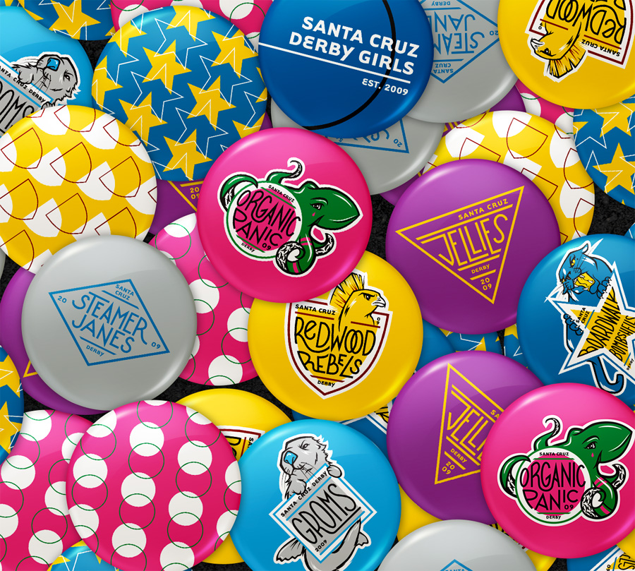 Santa Cruz Derby Girls - Promo Items - Buttons