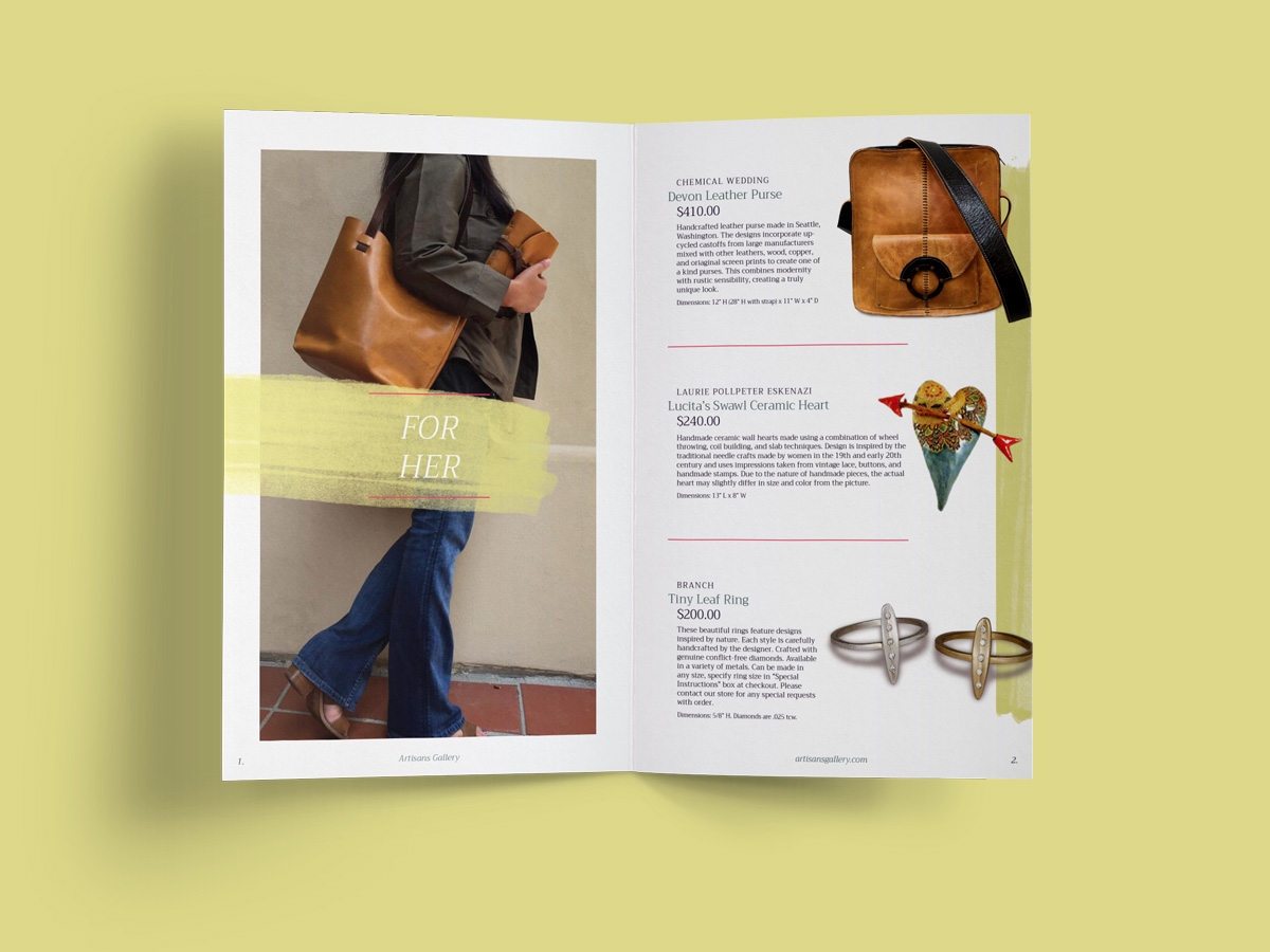 Artisans Gallery - catalog - spread