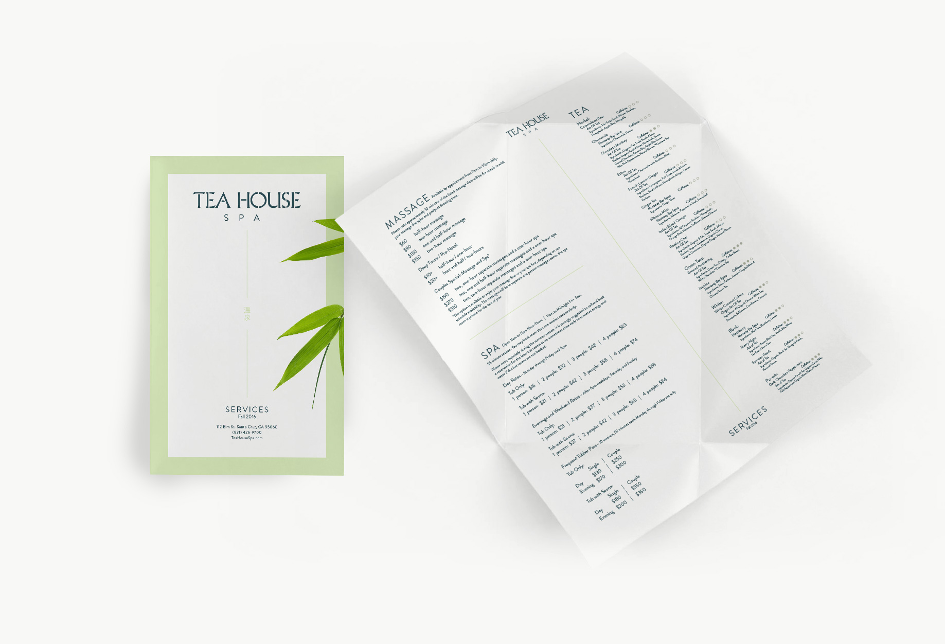 Tea House - Brochure
